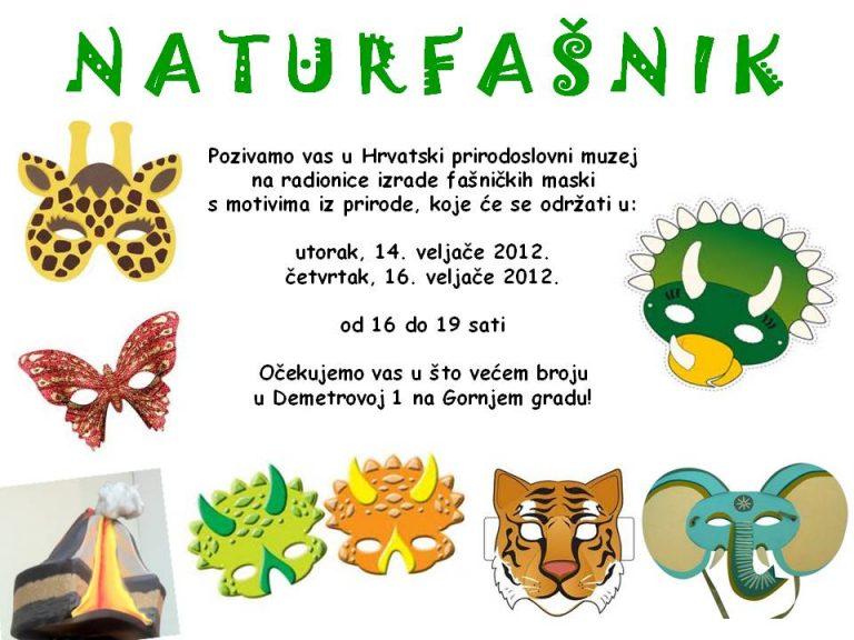 Radinica fašničkih maski s motivima prirode