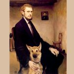 Miroslav Kraljevic Autoportret sa psom x