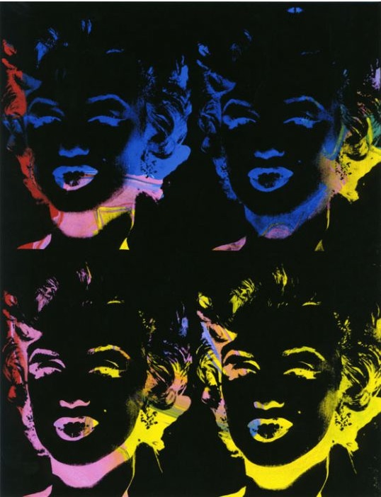 Andy Warhol Four multicoloured Marilyns