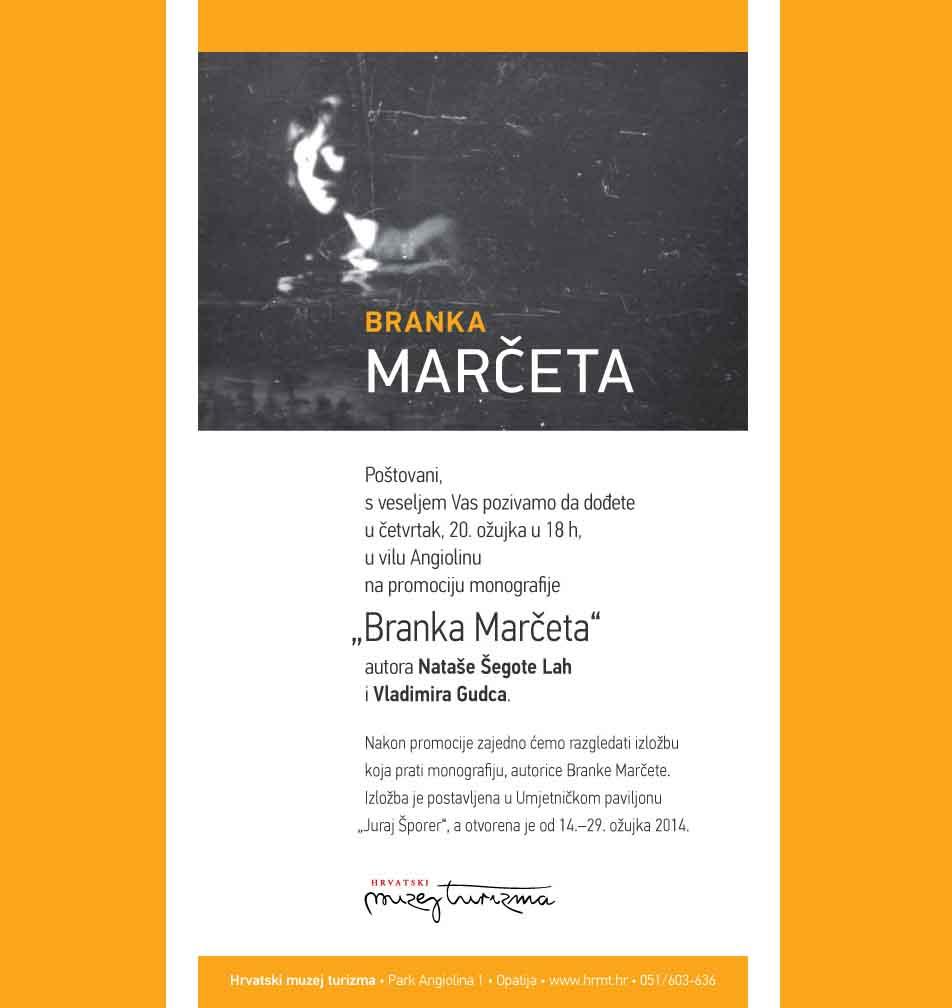 "Promocija monografije ""Branka Marčeta"""