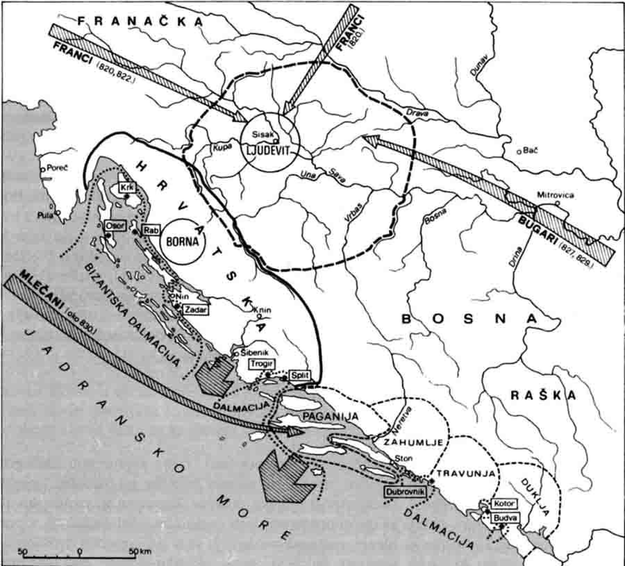 Podrucje Borne kneza Liburnije i Dalmacije