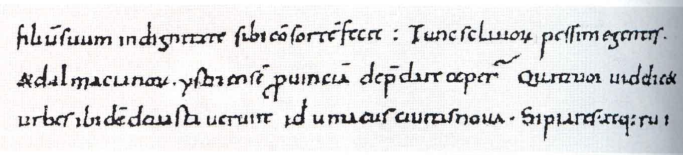 Domagoj zapis Ivana Đakona u kojem se spominje napad Domagojeva brodovlja na istarske gradove