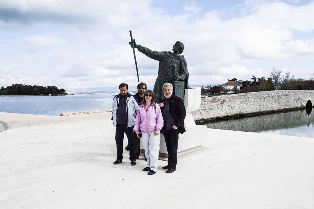 1. Autor serijala s kolegama iz Makedonije u Branimirovom Ninu