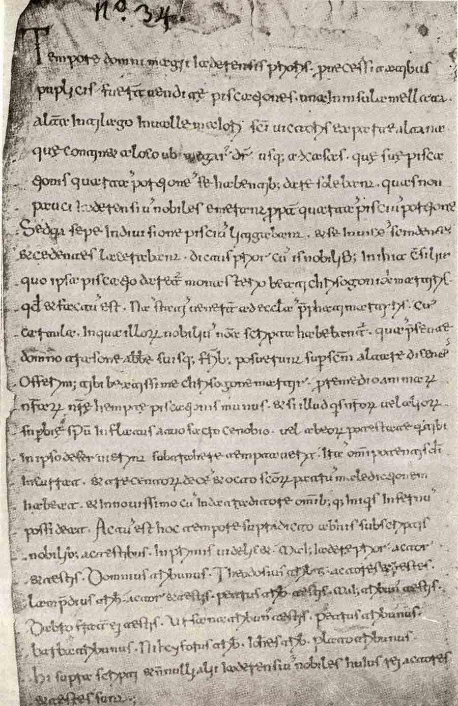 2 .Dokument o ustupanju prava ribarenja samostanu Sv. Krševana