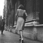 Street Conversations Woman walking down the street 1946 SK Film Archives LLC