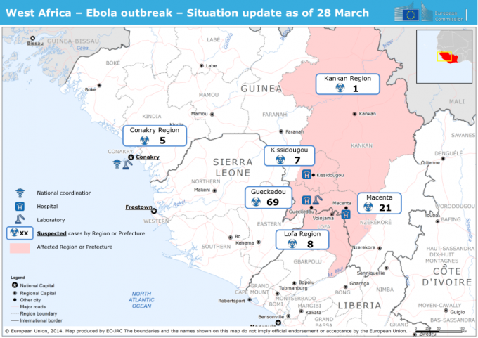 Više od 1.900 mrtvih od ebole u zapadnoj Africi