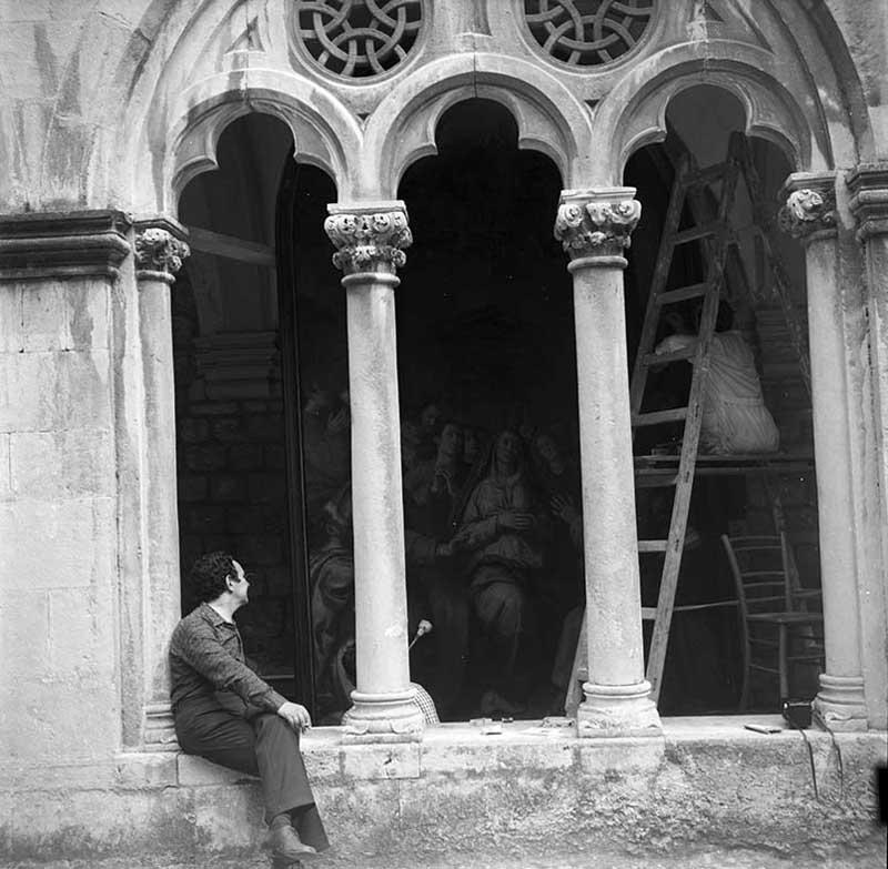 DUBROVNIK dominikanski samostan restauriranje Vasarijeve pale  snimio Miljenko Mojaš 1973
