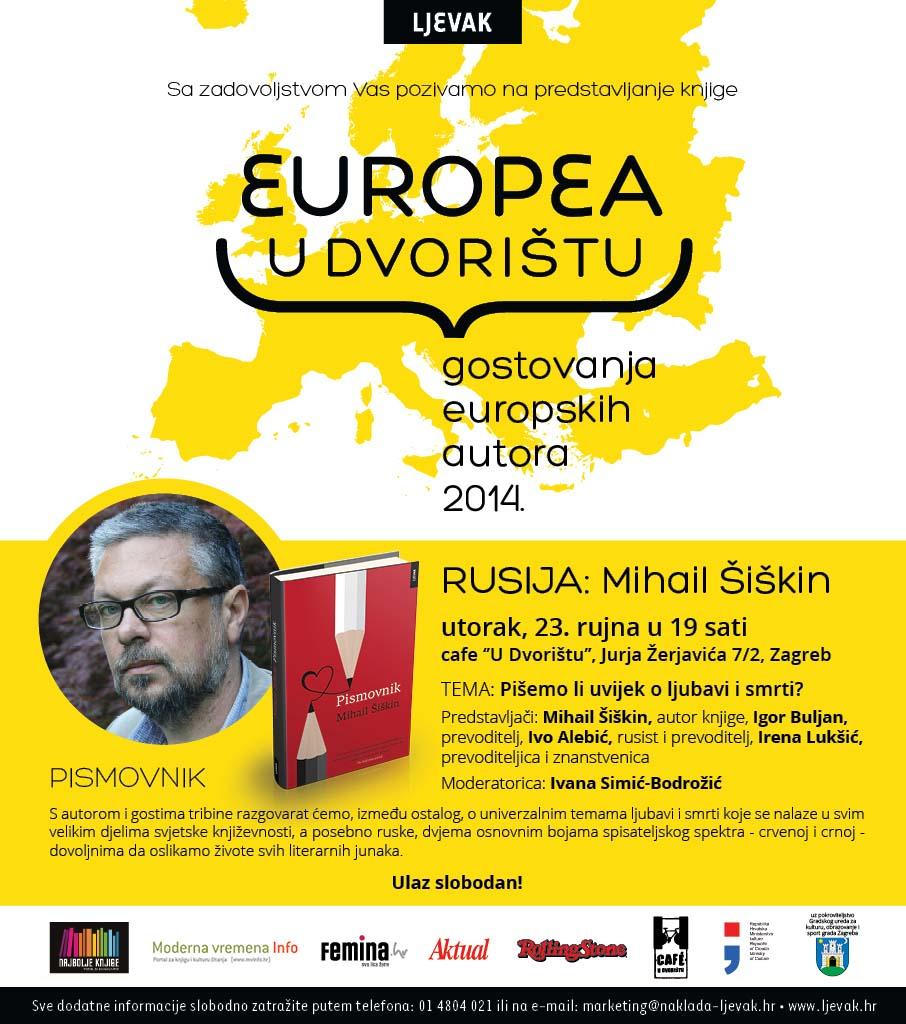Najava književne manifestacije Europea U Dvorištu