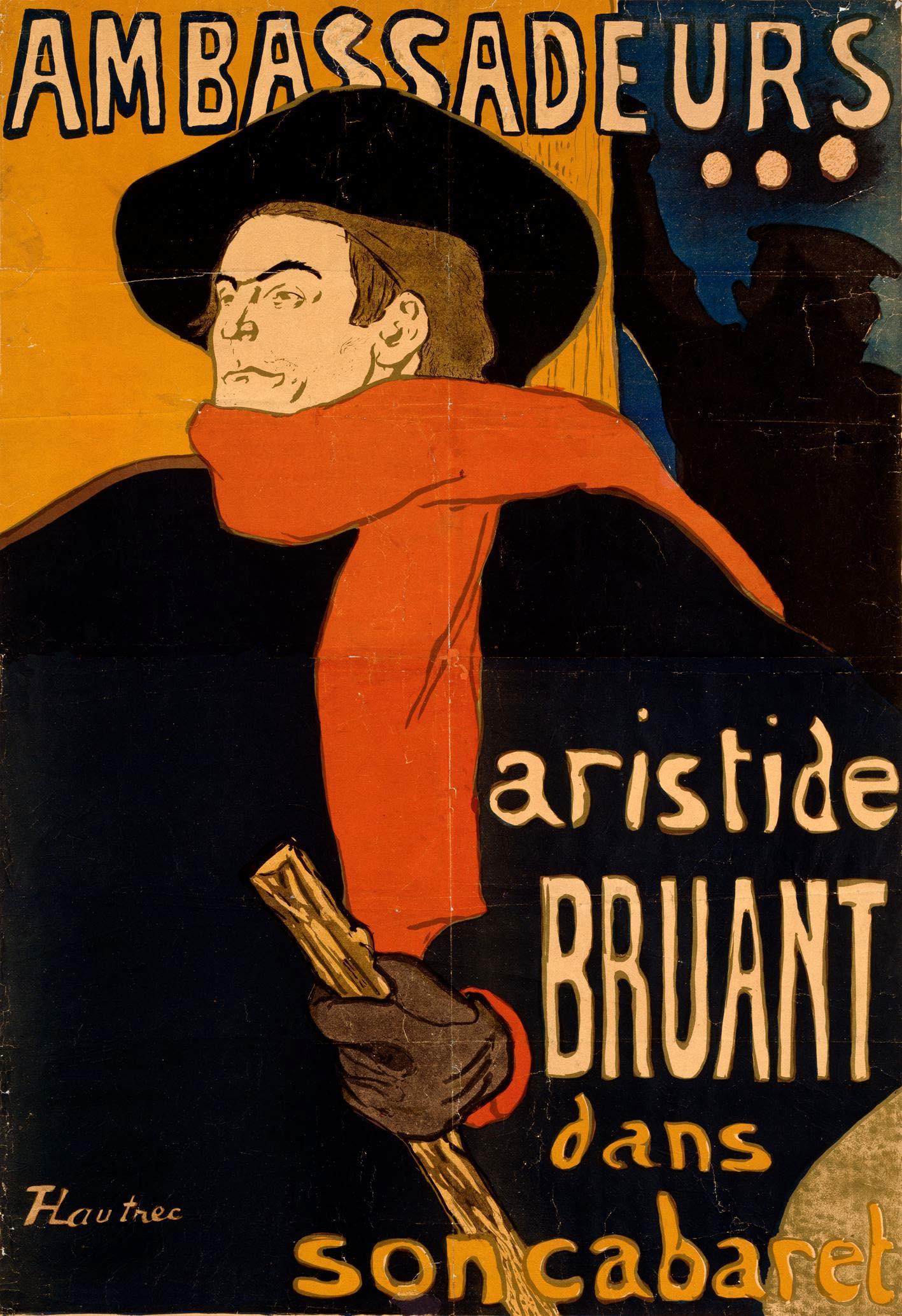 enri de Toulouse-Lautrec Ambassadeurs Aristide Bruant 1892  Designmuseum Dänemark