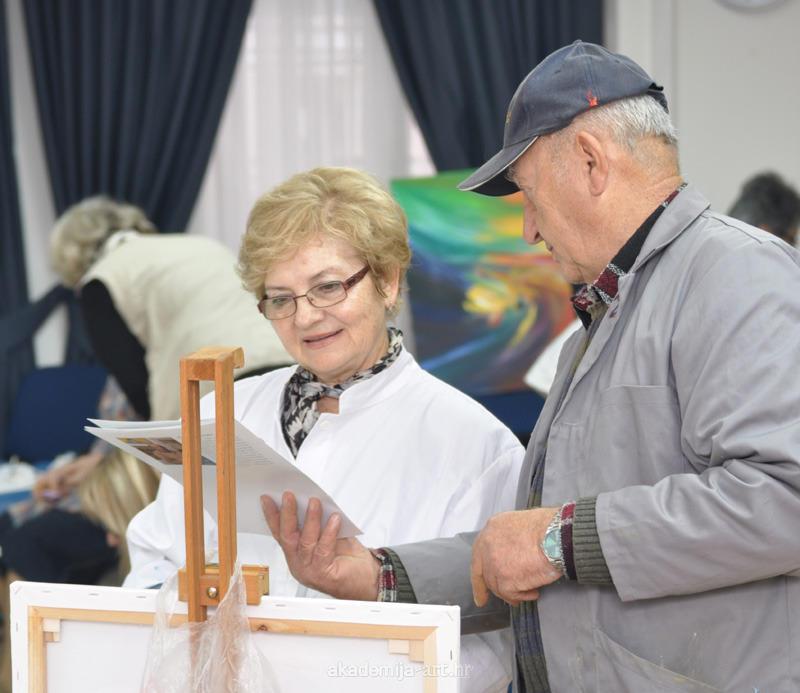 Najava likovne kolonije u Domu hrvatskih katoličkih liječnika u Zagrebu
