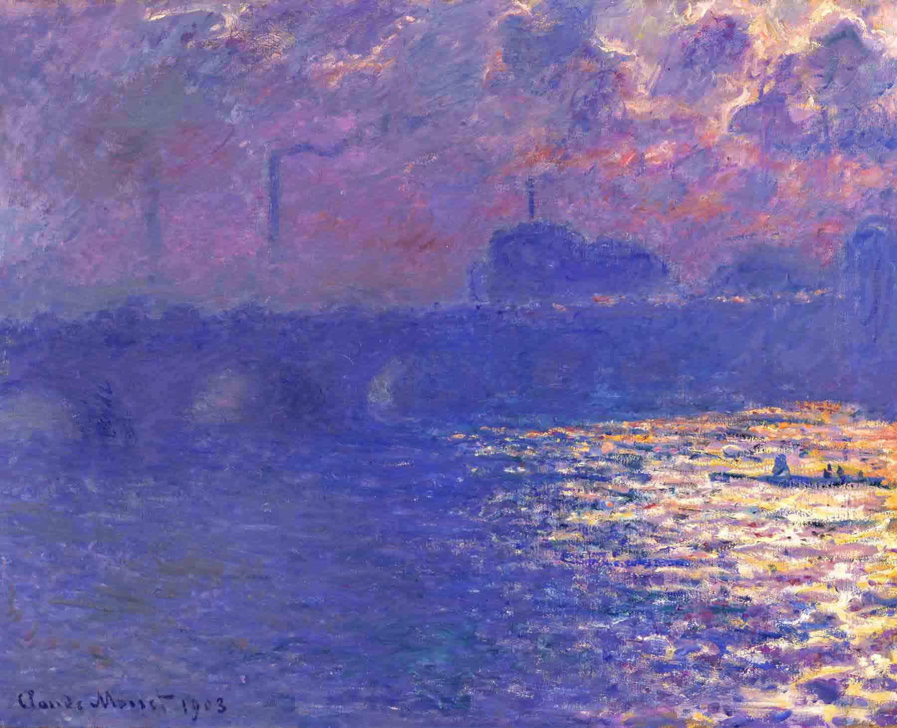 monet-waterloo-bridge-sunlight  effect milwaukee-art-museum Kopie