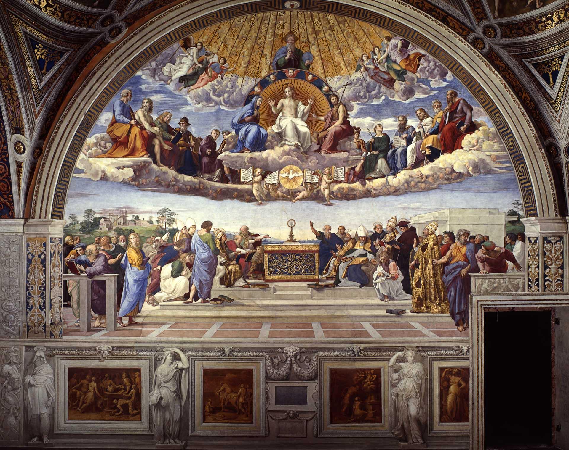 disputation-of-the-sacrament raphael