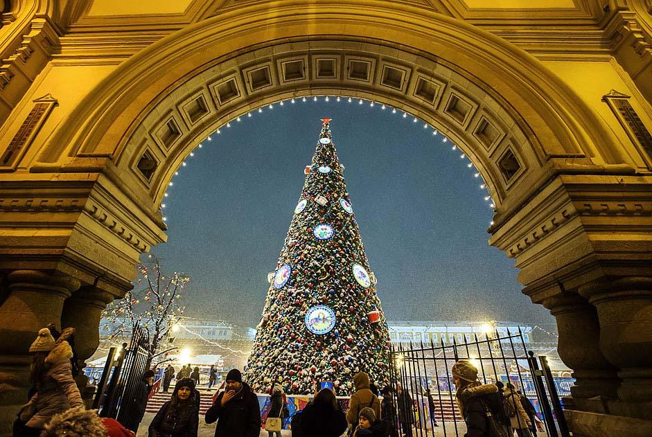 Božićno drvce na Crvenom trgu