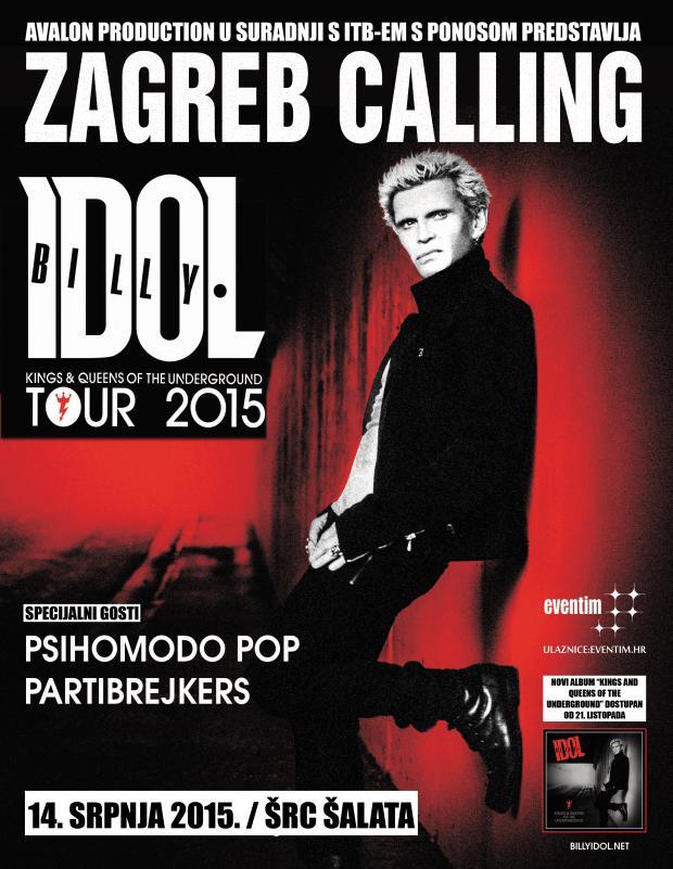 Billy Idol headliner prvog Zagreb Callinga