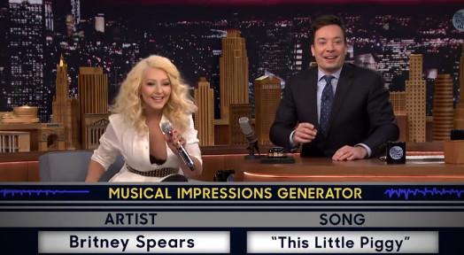 Christina Aguilera odlično imitira Britney