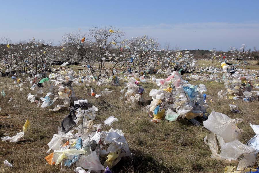 Tisuće najlonskih vrećica onečistilo okolicu Pule