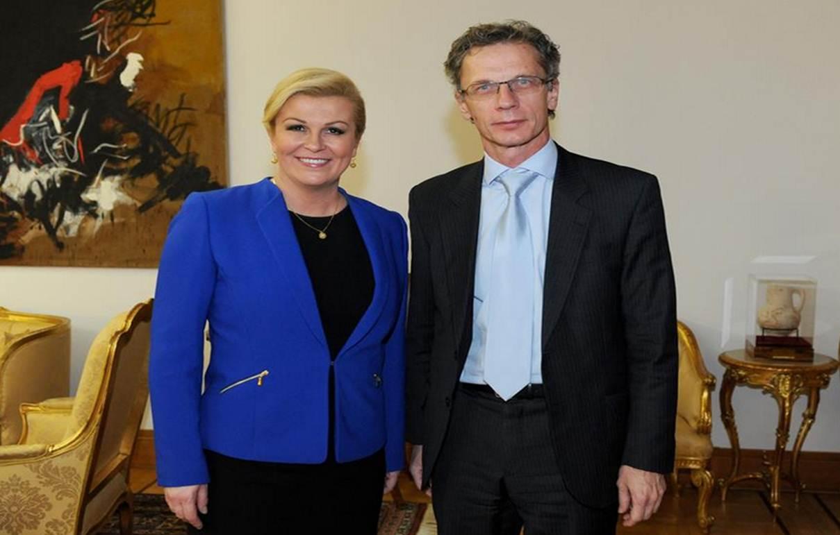 Predsjednica Grabar-Kitarović primila guvernera Hrvatske narodne banke Borisa Vujčića