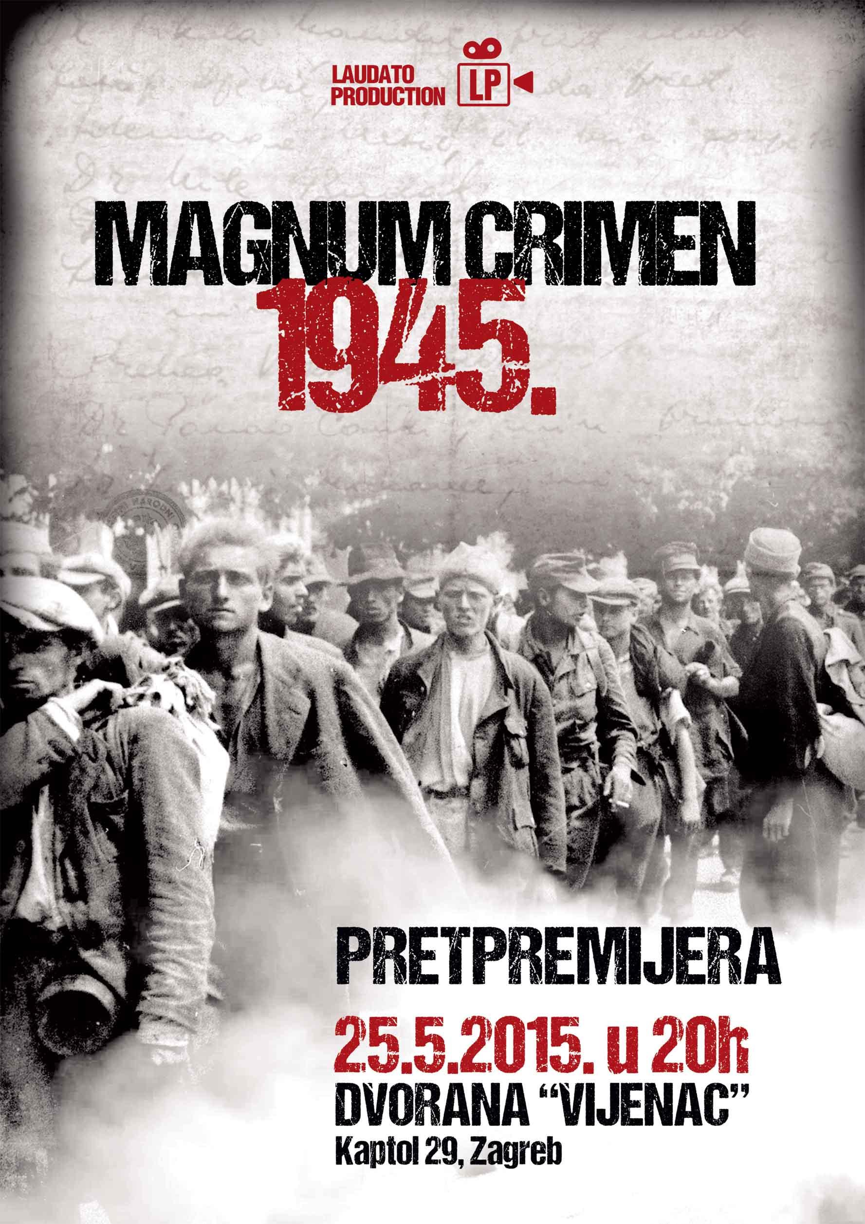 """Pretpremijera filma """"Magnum crimen 1945"""""""