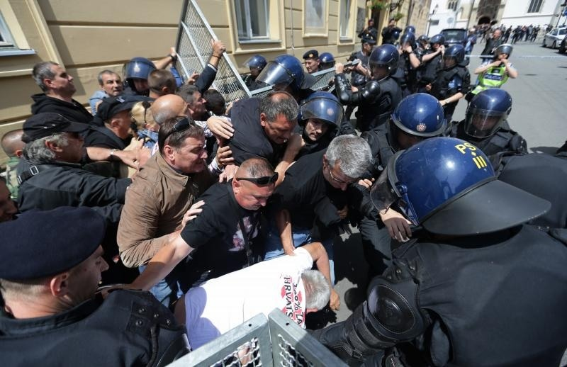 I was at St. Mark's church, the police applied brutal and unconstitutional force!