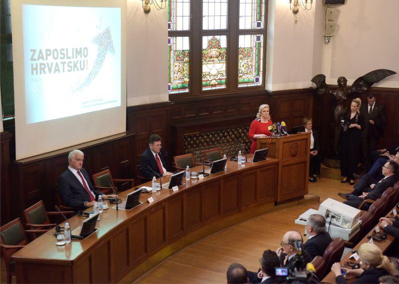 """Predsjednica Grabar-Kitarović na konferenciji """"Zaposlimo Hrvatsku"""""""