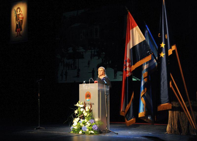 Predsjednica Republike Grabar-Kitarović posjetila je Rijeku u prigodi obilježavanja Dana Grada i blagdana Sv. Vida