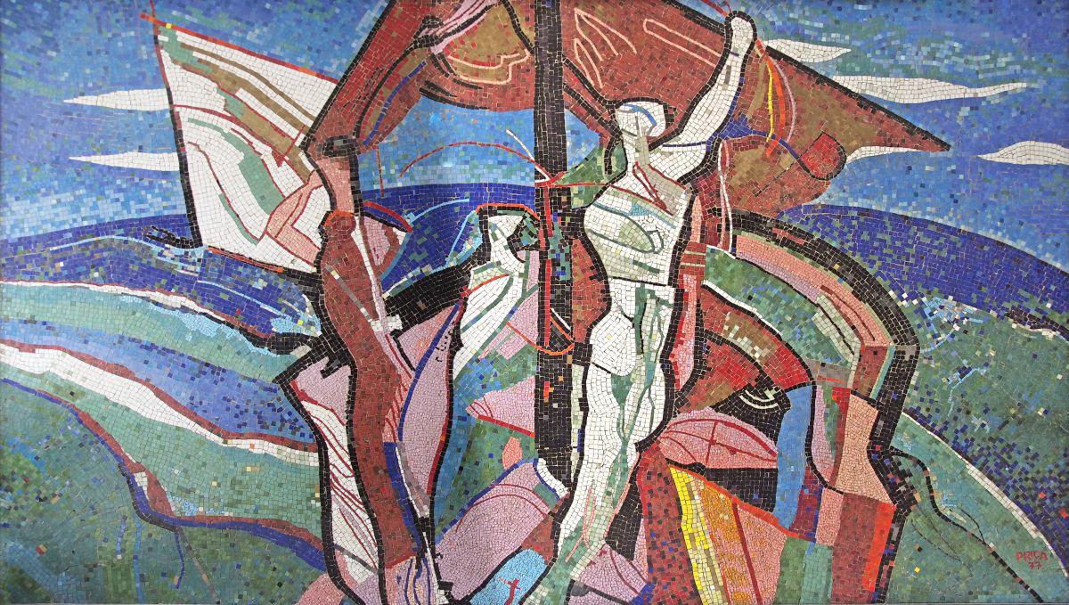 Prica Ministarstvo obrane - mozaik 1977 foto Željko Nemec