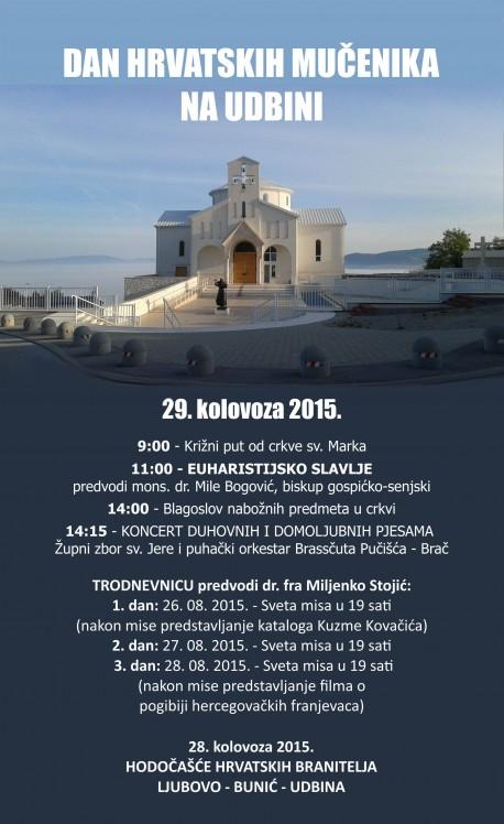 """""""Dan hrvatskih mučenika"""" na Udbini"""