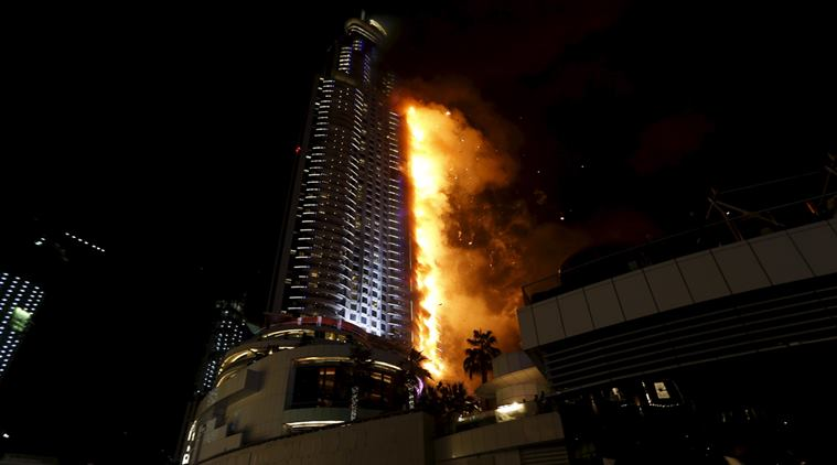 dubai hotel fire reuters