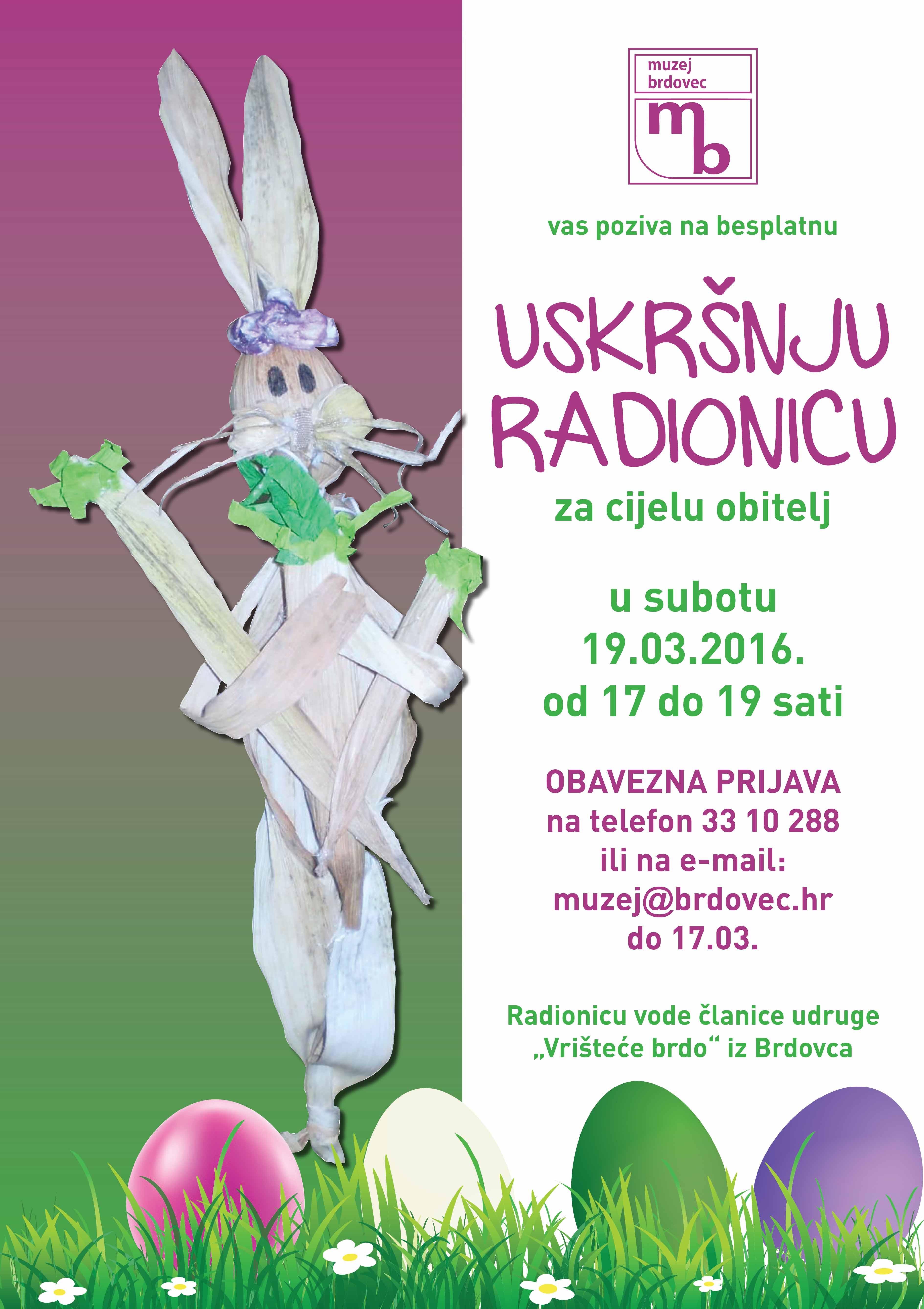 Uskršnja radionica u Muzeju Brdovec  19. ožujka