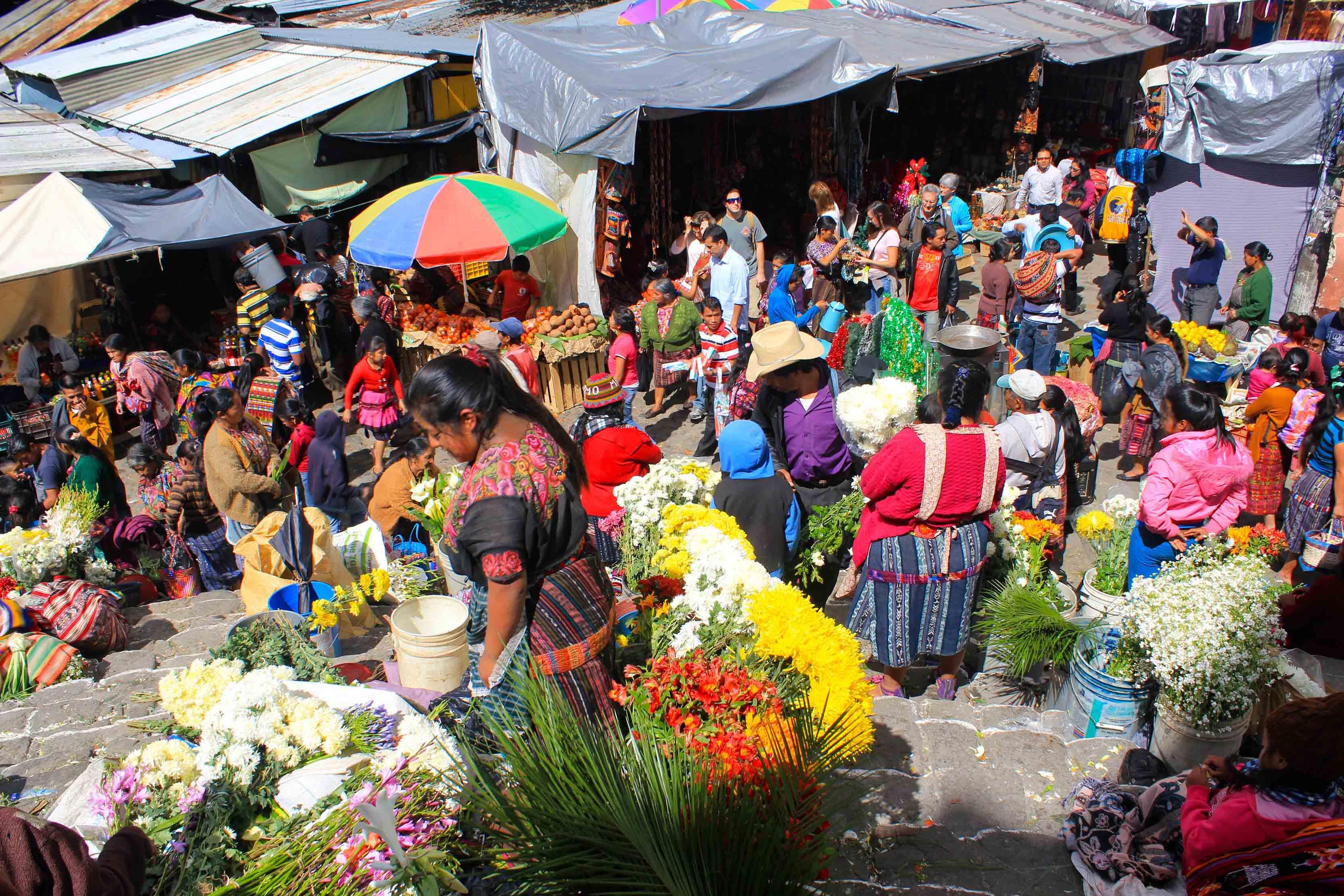 Autohtona gvatemalska tržnica