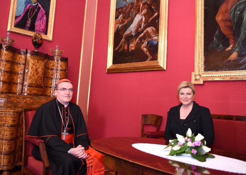 Kardinal Bozanić susreo se s predsjednicom Kolindom Grabar-Kitarović