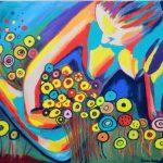 Senka Petek.Žena s cvijećem