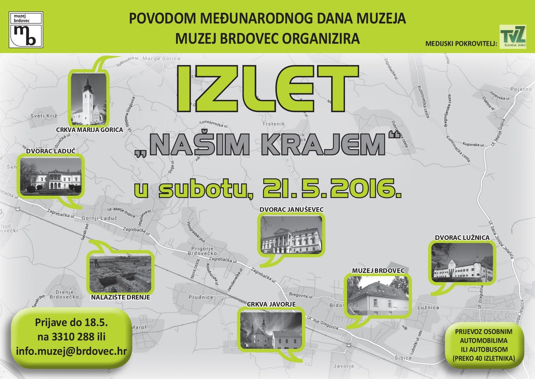 Poziv na izlet za Dan muzeja u zaprešićki kraj