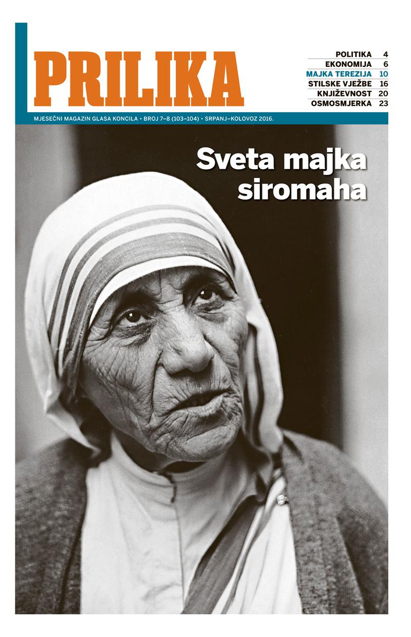 """Dvobroj """"Prilike"""" o djelu i kanonizaciji Majke Terezije"""