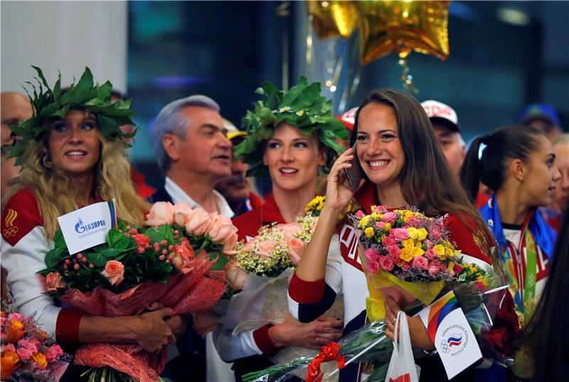 Ruski olimpijci dočekani kao heroji