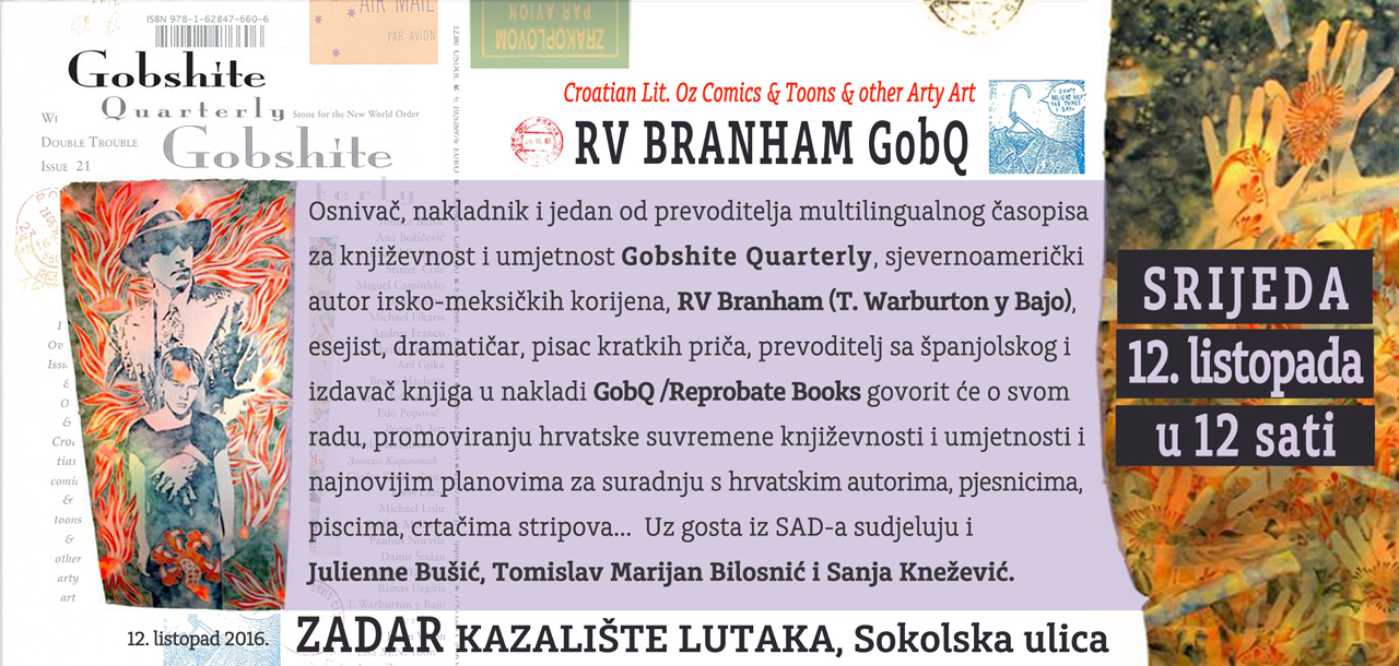 Zadar – Gostuje R.V. Branham, esejist, dramatičar, pisac kratkih priča iz SAD-a