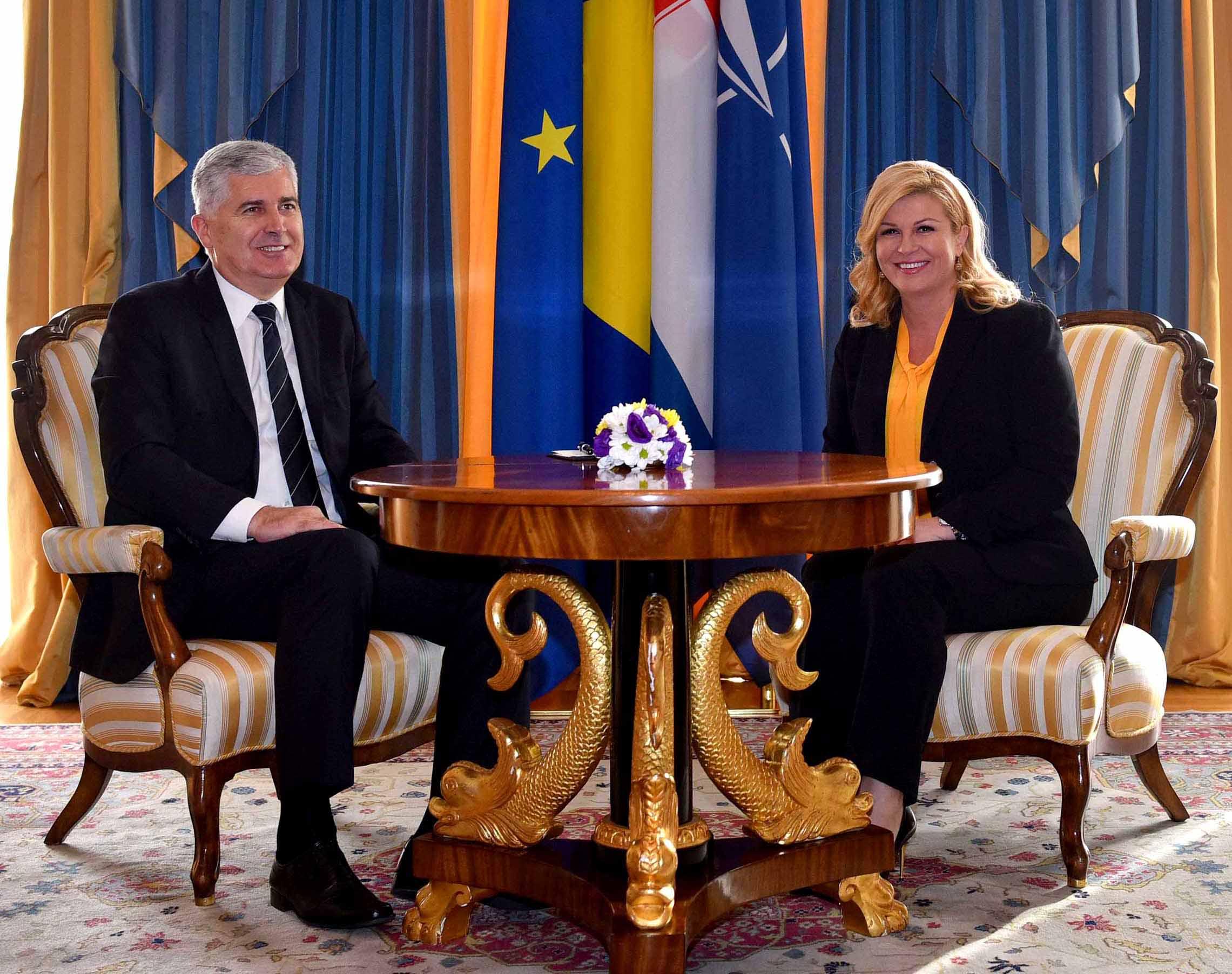 Radni sastanak Predsjednice s dr. Draganom Čovićem