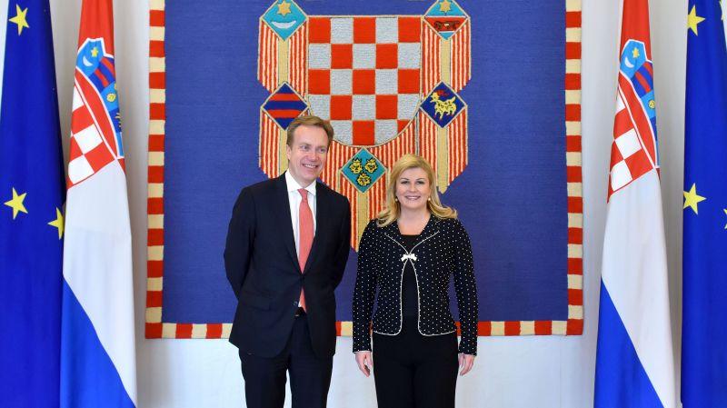 Susret Predsjednice s ministrom vanjskih poslova Kraljevine Norveške