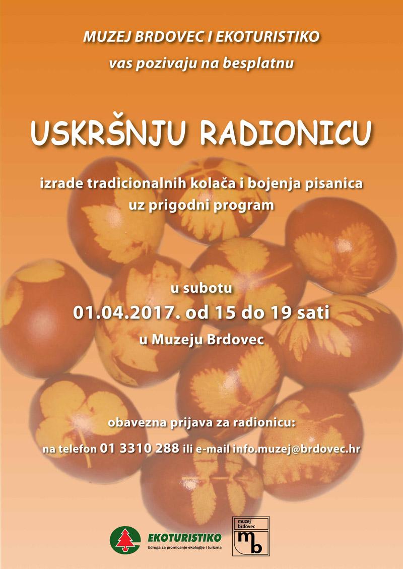 Uskršnja radionica u Muzeju Brdovec, 1. travnja