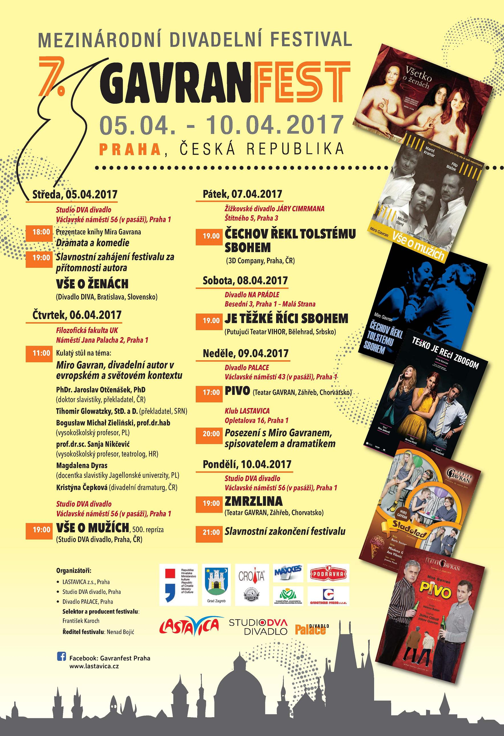 Uskoro počinje sedmi GavranFest u Pragu / SEVENTH GAVRANFEST IN PRAGUE