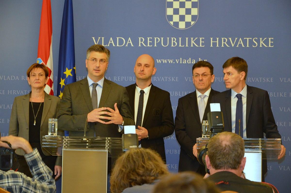 Plenković nakon sastanka s privatnim tvrtkama dobavljačima Agrokora