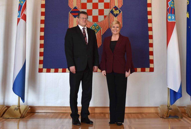 Predsjednica Republike primila potpredsjednika Europske komisije zaduženog za Energetsku uniju