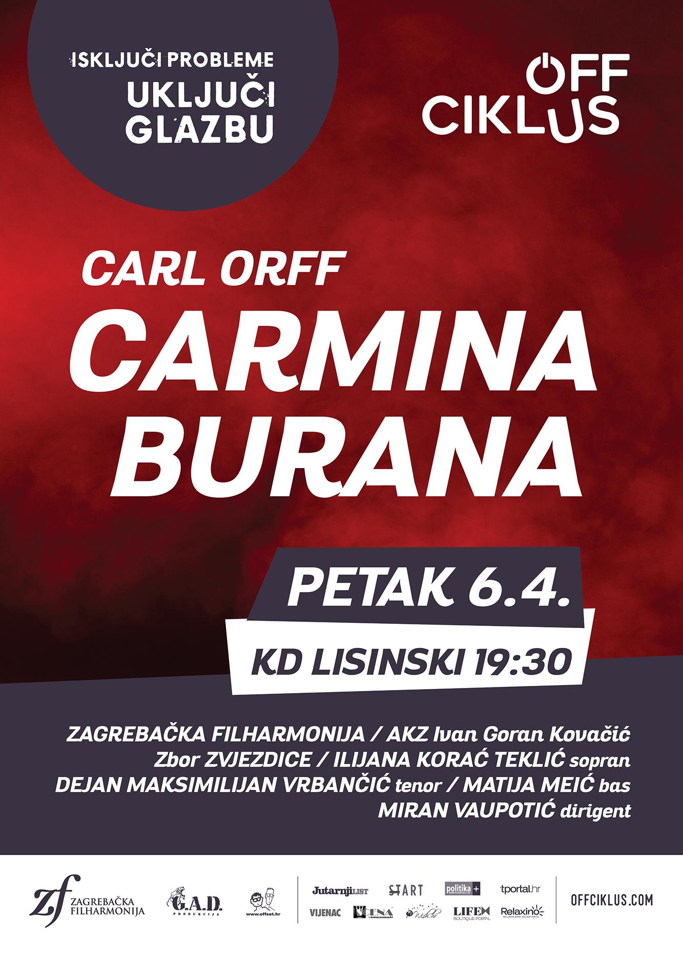 Slavna kantata Carmina Burana u ponovno rasprodanom Off ciklusu