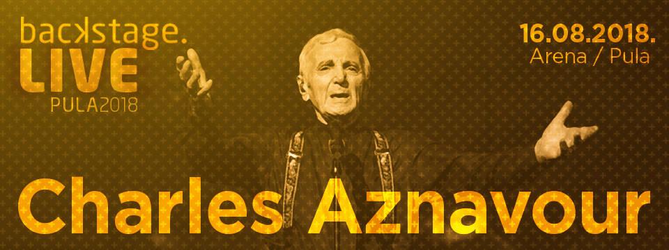 Charles Aznavour uživo u Puli