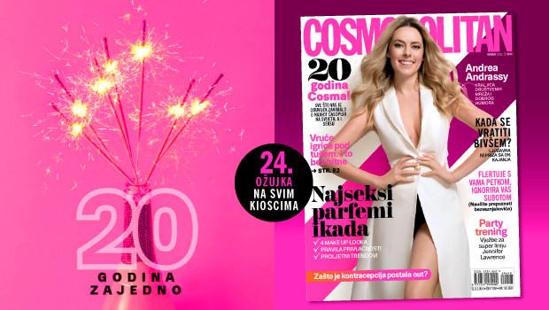 Andrea Andrassy krasi naslovnicu rođendanskog broja Cosmopolitana