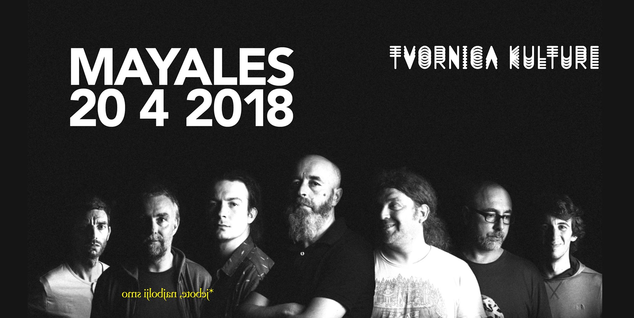 Najava koncerta grupe Mayales u Tvornici kulture, u petak 20. travnja