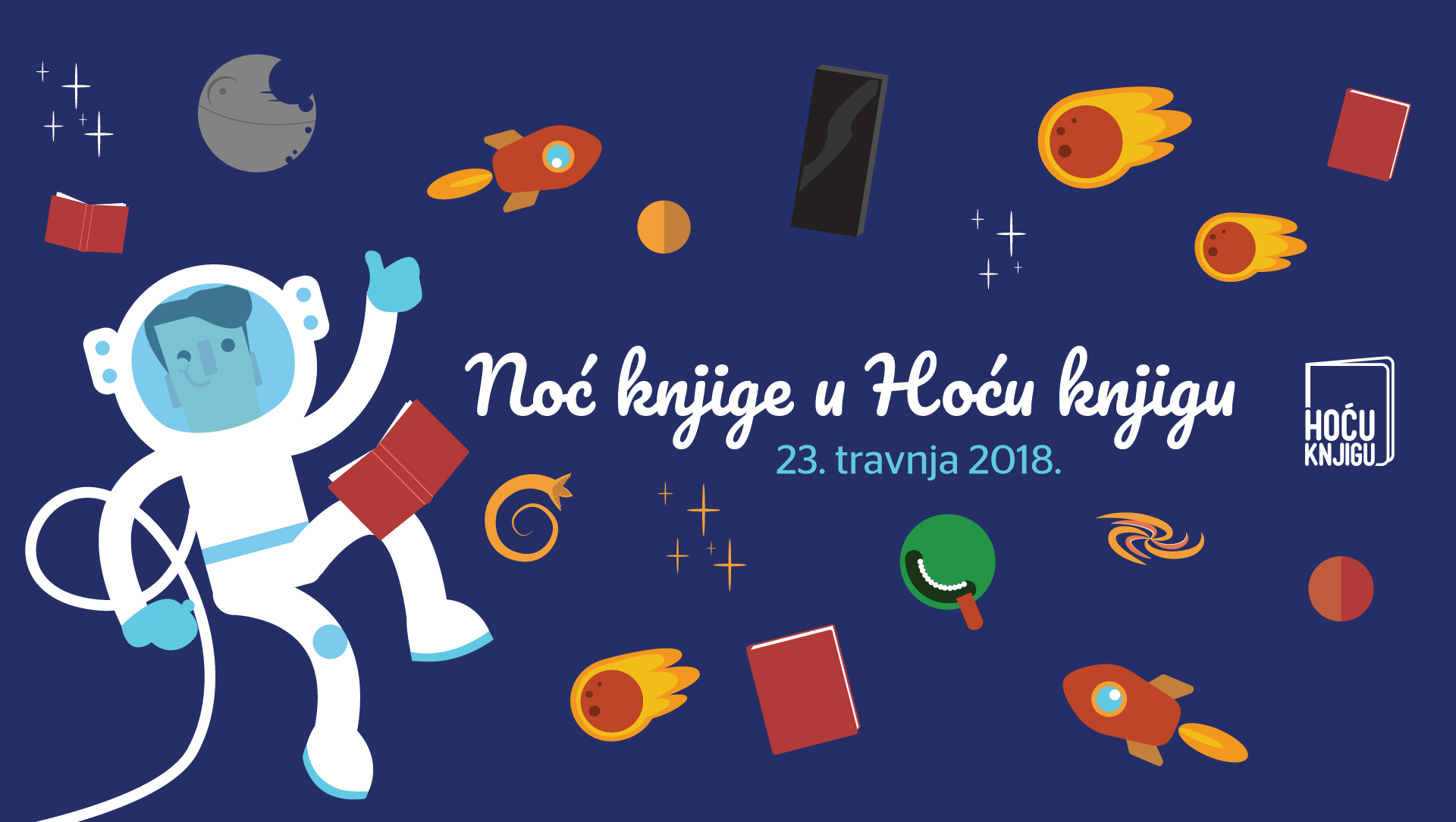 Spektakularna Noć knjige u Hoću knjigu