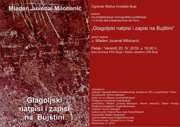 Predstavljena knjiga 'Glagoljski natpisi i zapisi na Bujštini'