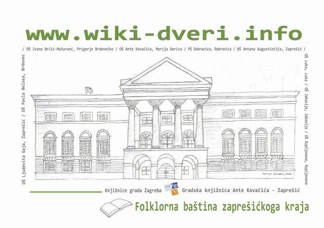 Predstavljanje projekta Wiki dveri na temu Folklorna baština zaprešićkoga kraja