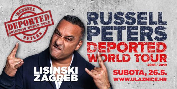 Po prvi puta – komičar RUSSELL PETERS nastupa u Hrvatskoj